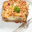 Stock Photo: Homemad lasagne vertical