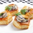 Vol au vents on plate — Stock Photo #17471769