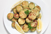 Sauteed zucchini from above — Stock Photo
