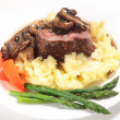 Tenderloin steak meal — Stock Photo