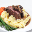 Chateaubriand and mash - Stock Photo