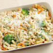 Royalty-Free Stock Photo: Pasta and broccoli bake from above