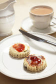Welsh cakes at tea — Stock Photo