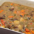 Meat and veg stew - Stock Photo