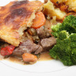 Stock Photo: Steak and veg pie