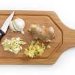 Stock Photo: Garlic and ginger
