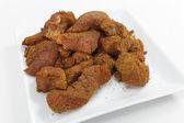 Beef coated in ras el hanout — Stock Photo