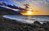 Greek sunset — Stock Photo