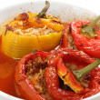 Cooked stuffed peppers greek style — Stock Photo #19828549