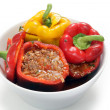Stuffed peppers ready for oven — Stock Photo #19828565