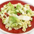 Romanescu and pasta meal - Stock Photo