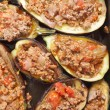 Eggplants stuffed with meat sauce — Stock Photo #19828827