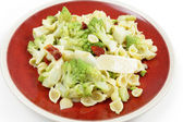 Romanescu and pasta meal — Stock Photo