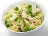 Romanescu and pasta serving bowl — Stock Photo