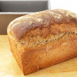 Wholemeal bread from the tin — Stock Photo