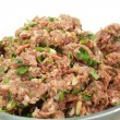 Beefburger pattie mix - Stock Photo