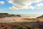 Three Cliffs bay in Wales — Stock Photo