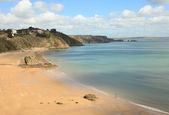 Tenby beach in April — Stock Photo