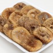 Dried figs on a tray angled — Stock Photo