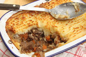 Homemade cottage pie from above — Stock Photo