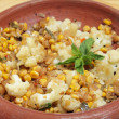 Stock Photo: Balti sweetcorn and cauliflower curry