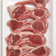 Lamb chops on tray — Stock Photo #28258211