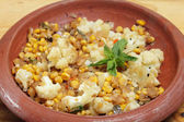 Balti sweetcorn and cauliflower curry — Stock Photo