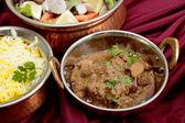 Rogan josh curry bowls — Stock Photo