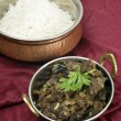 kerala mutton liver fry vertical — Stock Photo