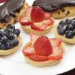 Fruit tarts side view — Stock Photo