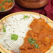 Lamb rogan josh meal vertical — Stock Photo