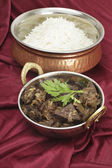 Mutton liver fry vertical — Stock Photo