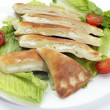 Cheese fataya with salad — Stock Photo