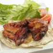 Tandoori chicken high angle — Stock Photo