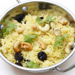 Raisin and cashew pilaf — Stock Photo