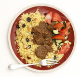 Beef madras meal from above — Stock Photo