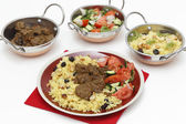 Beef curry and kadais — Stock Photo