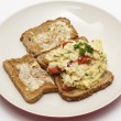 Scrambled egg, high angle — Stock Photo