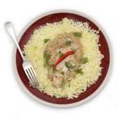 Chicken pasanda curry from above — Stock Photo