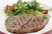 Low carb steak and salad closeup — Stock Photo