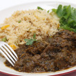 Methi lamb meal closeup — Stock Photo