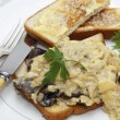 Scrambled egg with mushrooms meal — Stock Photo