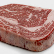 Foto de Stock  : Wagyu ribeye steak raw