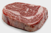Wagyu ribeye steak raw — 图库照片
