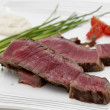 Wagyu steak dinner closeup — Stock Photo