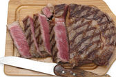 Wagyu steak on a chopping board — Stock Photo