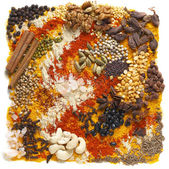 Indian pulses and spices — Stock Photo