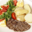Foto Stock: Minute steak closeup