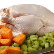 Stock Photo: Chicken and veg for stew