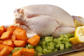 Chicken and veg for a stew — Stock Photo